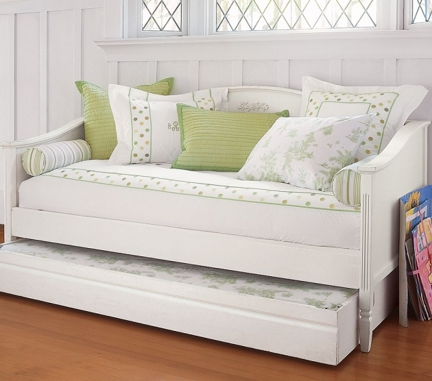 White Daybed With Trundle Bed Image 16