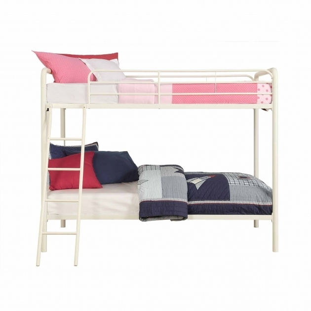 White Dorel Twin Over Full Metal Bunk Bed Multiple Colors Pictures 71