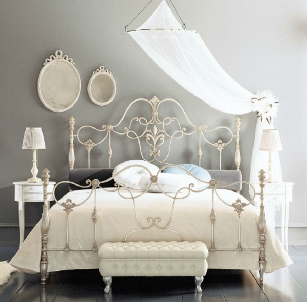 Wrought Iron Headboard Antique King Bed Pics 19