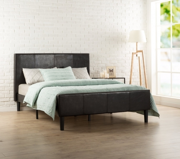 Zinus Deluxe Faux Leather Best Mattress For Platform Bed Upholstered Photo 54