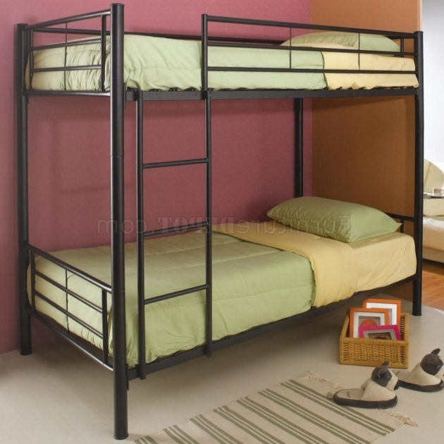 Bunk Bed Replacement Ladder Black Metal Modern Twin Over Twin Bunk Bed Photo 15