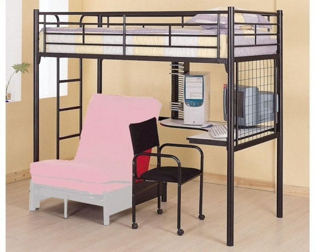 Coaster Furniture Twin Bunk Bed With Only Top Bunk And Futon Chair Desk Pictures 91