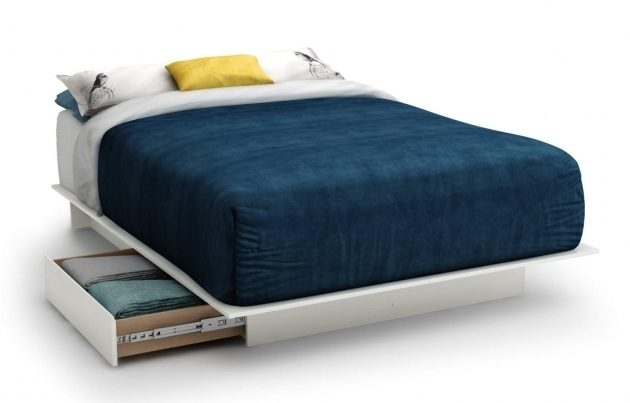 Contemporary Storage Platform Bed Queen Size With 2 Storage Drawers Photos 24