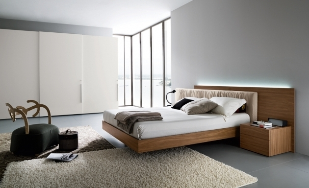 Floating Minimal Platform Bed Modern Bedroom Design Photo 83