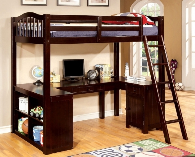 FOA Kids Bunk Bed With Only Top Bunk And Desk  Photo 52