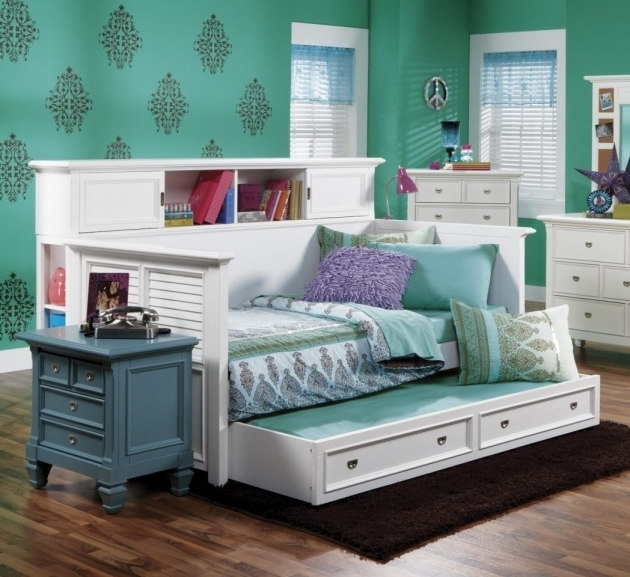 Full Size Daybed With Trundle Bed Holland House Belmar Youth Bookcase With Louvre Panels Picture 61