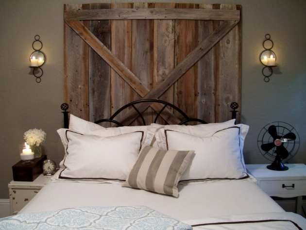 Headboard Made From A Barn Old Door Ideas Photos 85