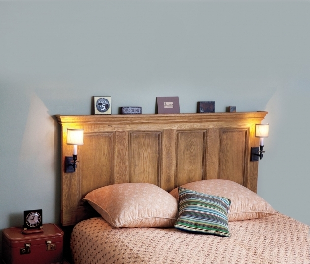 Headboard Made From A Door For Interior Bedroom Ideas Picture 85