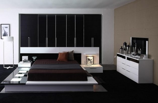 Impera Modern Contemporary Lacquer Platform Bed Furniture Image 84