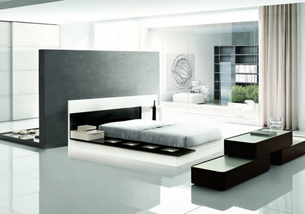 Impera Modern Contemporary Lacquer Platform Bed With Stylish Bedrom Decor Photos 74