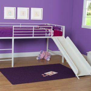 Metal Loft Bed with Slide