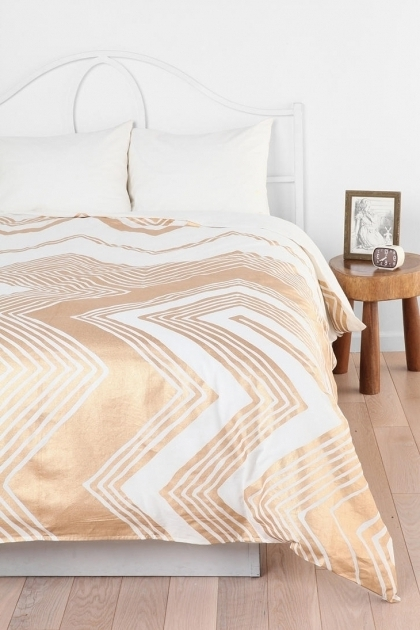 Metallic Gold Bedding Ideas Chevron Bedding Picture 31