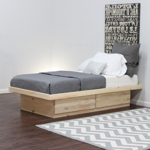 Modern Twin Twin Platform Bed Frame With Storage Drawes Photo 74
