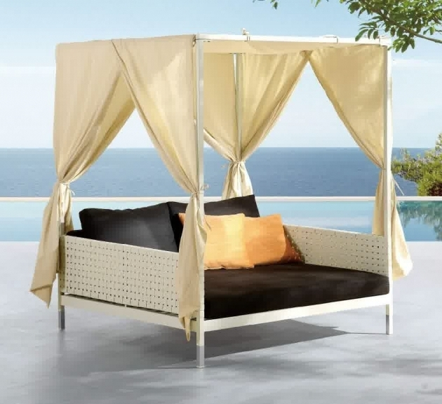 Outdoor Queen Daybed Frame Patio Decorations Images 70