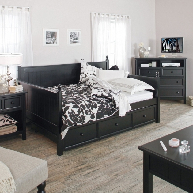 Queen Daybed Frame Black Image 16
