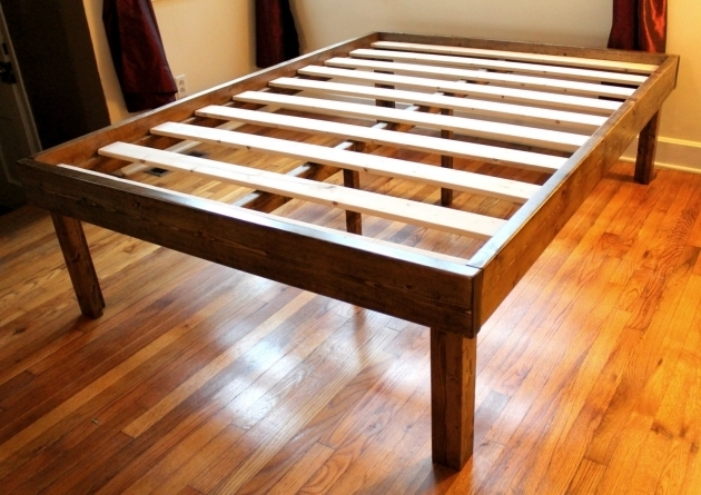 Rustic Wood Minimalist Tall Platform Bed Frame Twin Full Queen King Photo 43