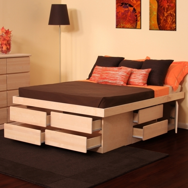 Tall Platform Bed Frame Maximize Under Bed Storage Image 37