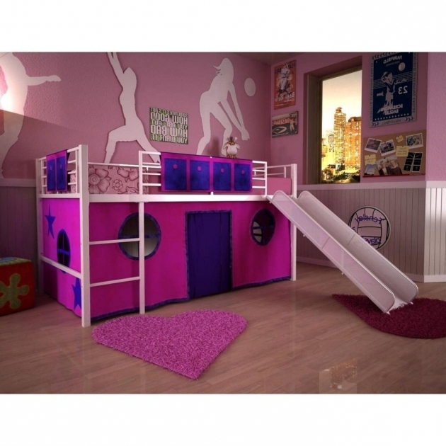 Total Fab Toddler Low Metal Loft Bed With Slide For Boys And Girls Photo 37