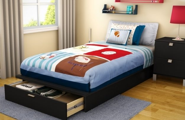 Twin Platform Bed Frame With Storage Modern Twin Bedding Photo 84