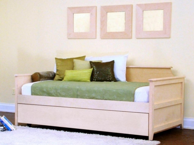 Twin XL Daybed Frame With Trundle Design Picture 14