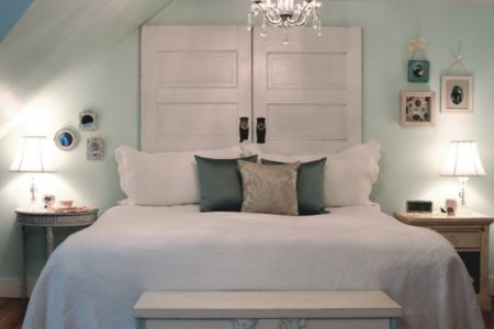 Headboard Made From a Door