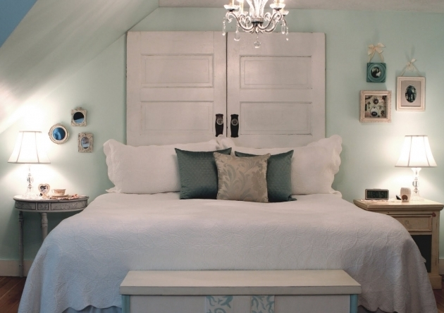 White Headboard Made From A Door Images 15
