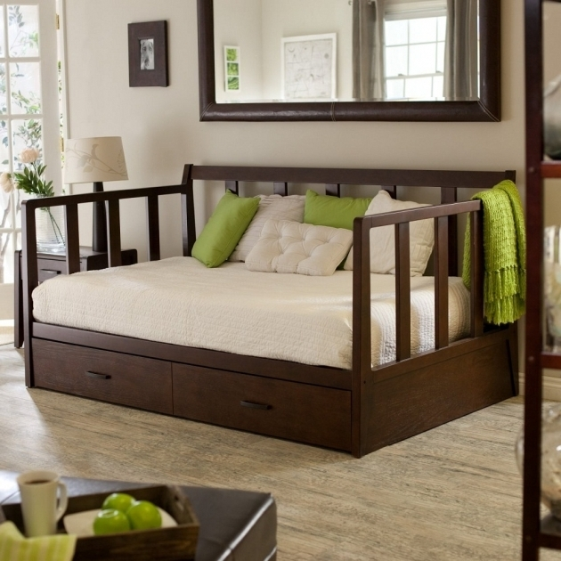 Wooden queen daybed frame pictures 38 bed headboards for Queen size daybed frame