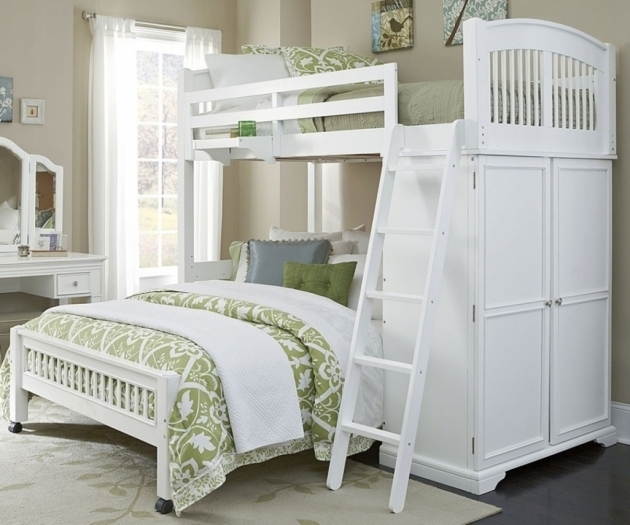 Beautiful Full Over Queen Bunk Bed With Stairs Bedroom Furniture Image 55