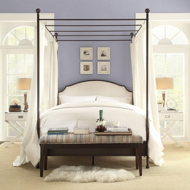 Black Metal Canopy Bed Frame Queen Ideas Images 29