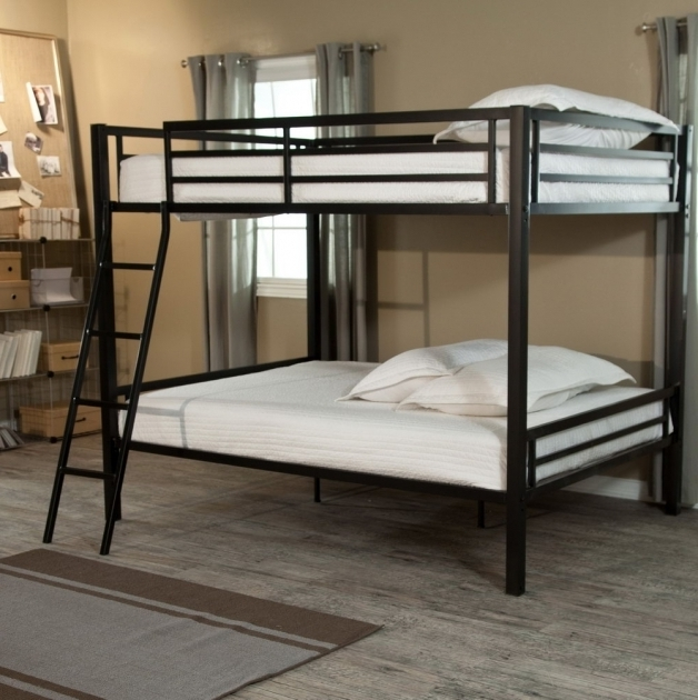 Black Metal Full Over Queen Bunk Bed With Stairs Design Ideas Photos 37