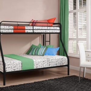 Twin Over Full Bunk Bed with Mattress Included
