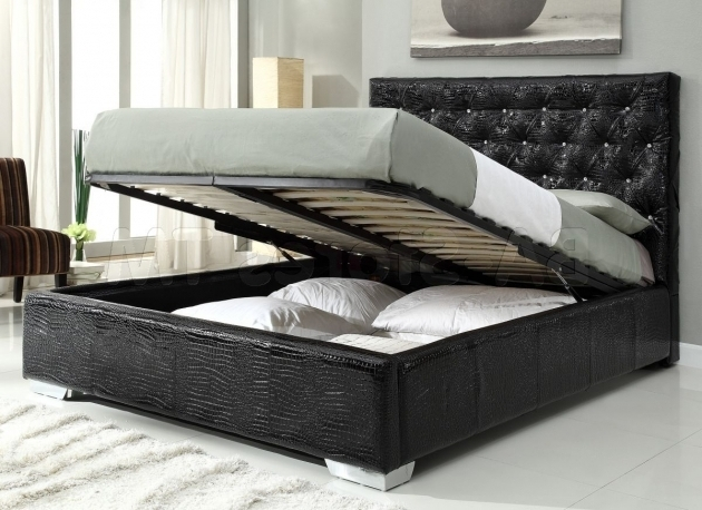 Cheap King Size Platform Beds Built In Storage Photos 03