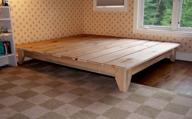 Cheap King Size Platform Beds Wood Bed Frame  Photo 44