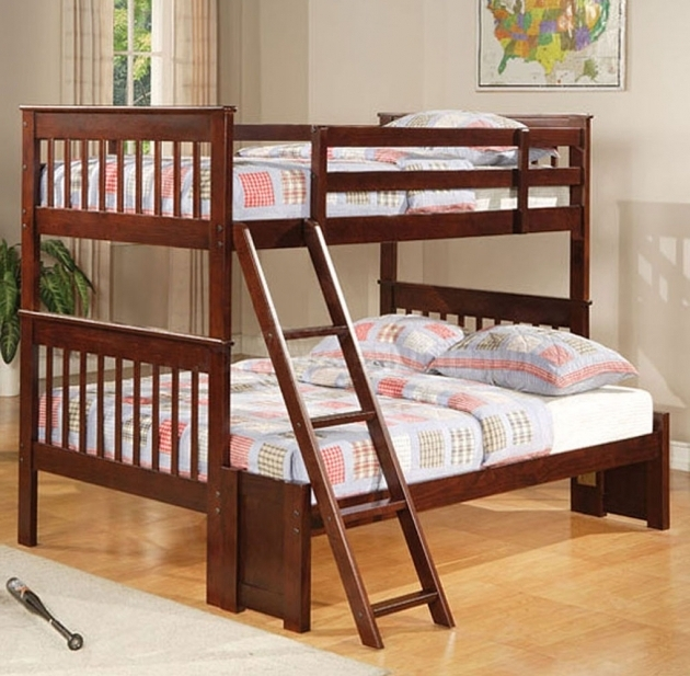 Coaster Cappuccino Twin Over Full Bunk Bed With Mattress Included Photo 35