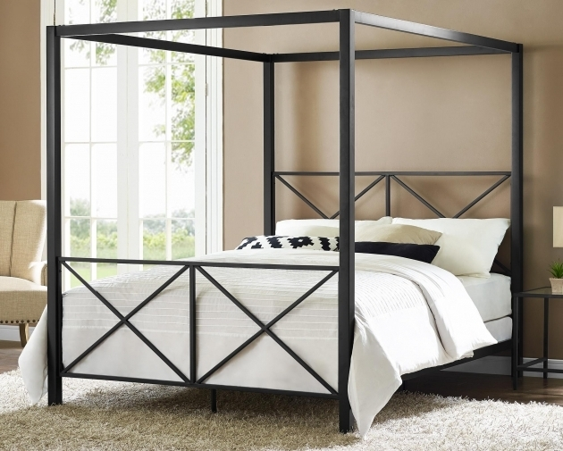 Dhp Rosedale Modern Romance Metal Canopy Bed Frame Queen Picture 33