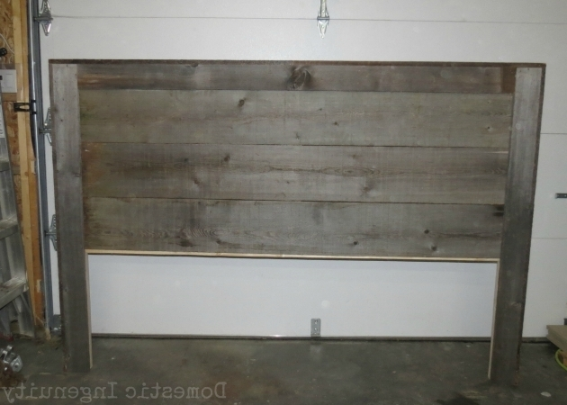 Diy Reclaimed Gray Wood Headboard Picture 98