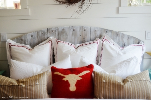 Driftwood Gray Wood Headboard Farmhouse Photos 87