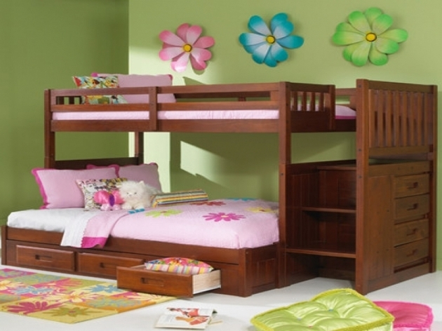 Full Over Queen Bunk Bed With Stairs For Girls Pictures 48