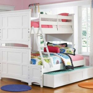 Full Over Queen Bunk Bed with Stairs