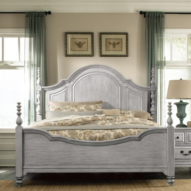 Gray Wood Headboard Windsorlane Wood Posterbed Weatheredgrey Magnussenhome Picture 41