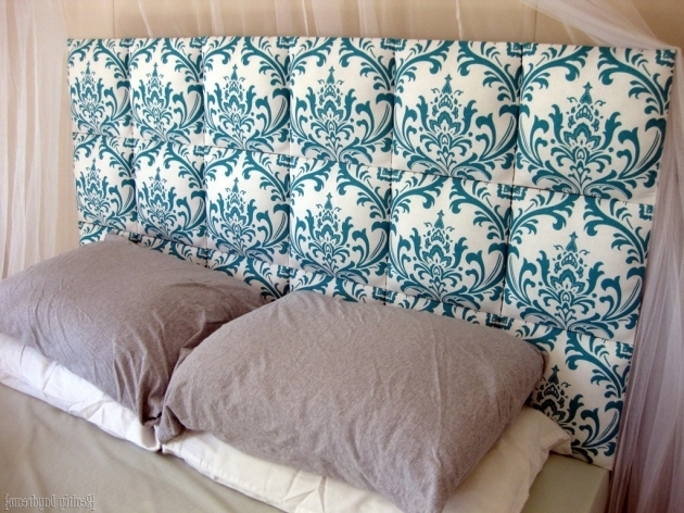 How To Make A Fabric Headboard Individual Upholstered Squares Lined Up To Make A Tufted DIY Headboard Image 85