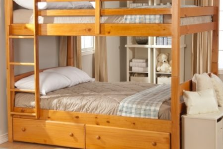 Bunk Bed with Queen Size Bottom