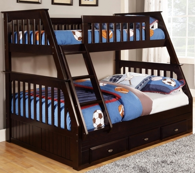 Kids Twin Full Over Queen Bunk Bed With Stairs Picture 73