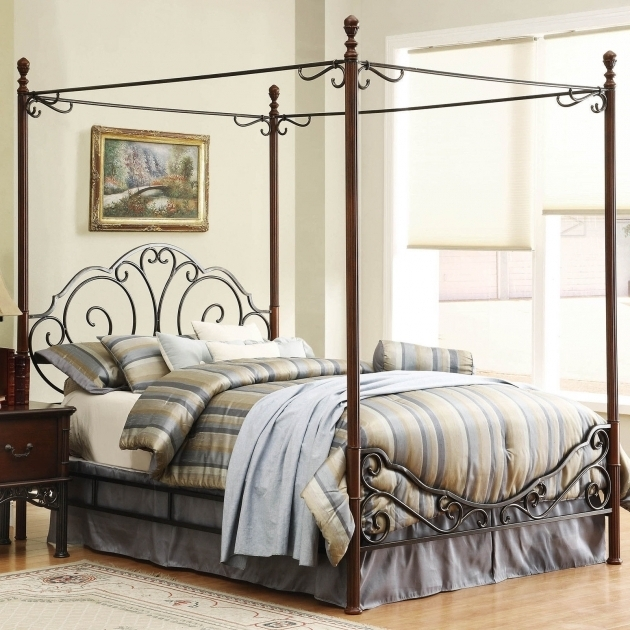 Metal Canopy Bed Frame Queen Luxury Ideas Photo 31