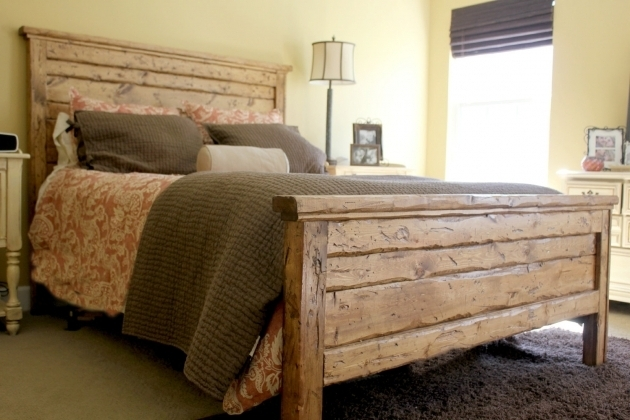 Reclaimed Wood King Headboard Design Photo 79