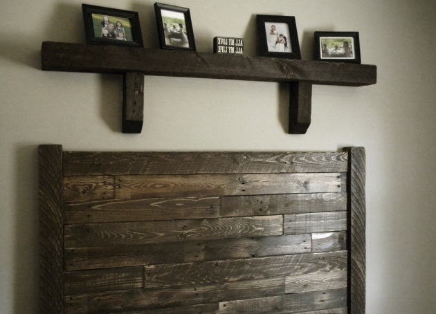 Reclaimed Wood King Headboard With Shelves At The Top Photos 98