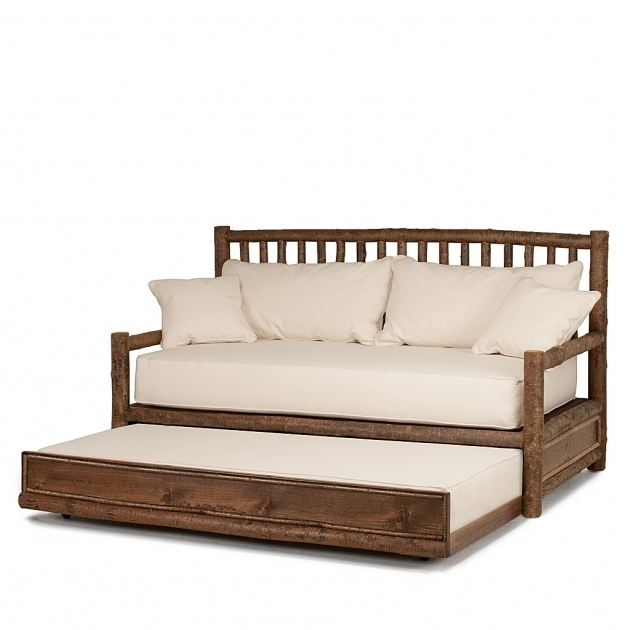 Rustic Daybed With Trundle Side Open  Pictures 14