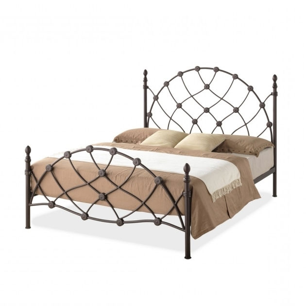 Simple Metal Bed Frame Baxton Studio Monique Chic Antique Bronze Ideas Finish Queen Iron Metal Platform Base Bed Frame Pictures 13