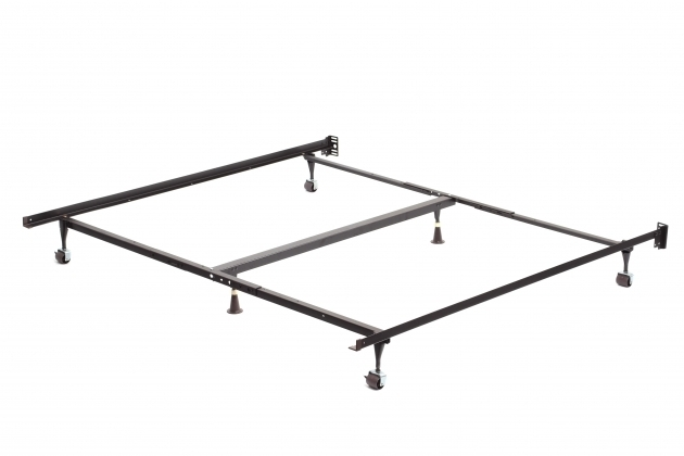 Solid California King Metal Bed Frame With Wheels Images 10