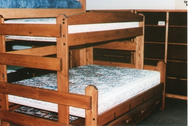 Twin Full Bunk Bed With Queen Size Bottom Image 65